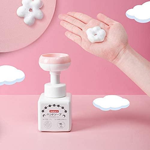 Chahu Simpatico Petalo Mousse Schiuma Sapone a Forma di Fiore Sanitizzatore con Clip 250 ML Press Wash Dispenser per Bambini Adulti