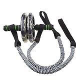 Afittel0 2Pcs / Par Ejercer Rueda Cuerda, Abdominal Multifuncional Ejercicio Fitness Rodillo para Cuerda de Tracción Twist Peso Entrenamiento Equipment - Gris + Negro, 2pcs/Pair