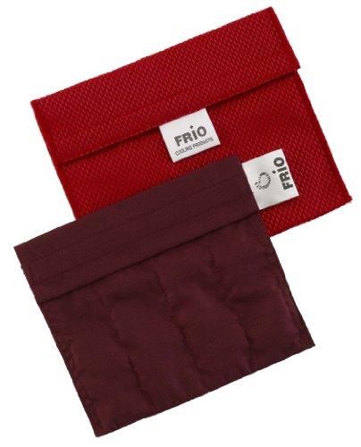 FRIO Kühltasche für Insulin - Glaukom, 14 x 12cm, ROT - KEIN Eispack oder Batterien nötig, KEIN Eispack oder Batterien nötig, für eine Kombinationen von Ampullen oder Patronen, KEIN Pen