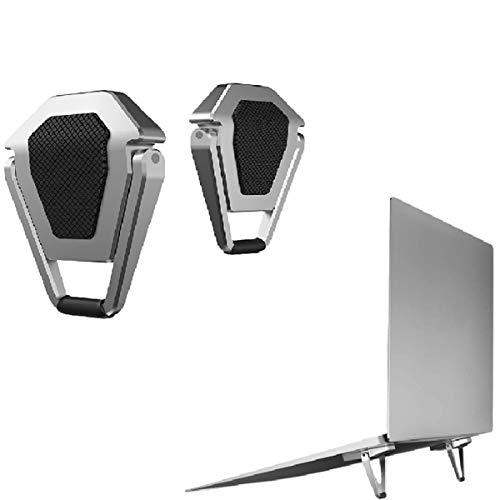 HFGHGDF Soporte para Ordenador Pequeña Portátil (2 Unidades) Soporte para Portátil Invisible Mini Adhesivo Soport Gaming Portátil De 10-17' alzador