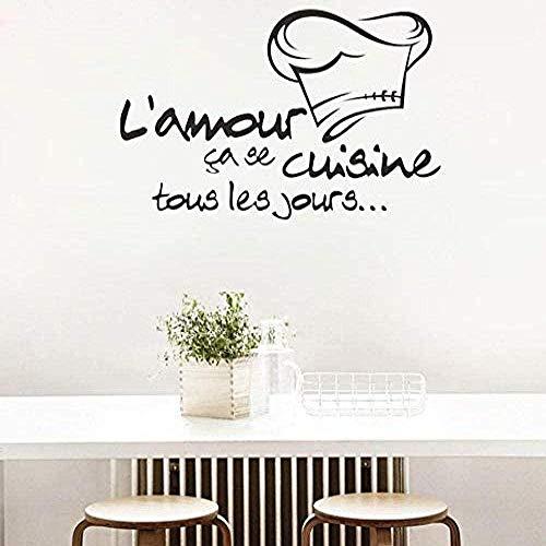Muurstickers, verwijderbare keukenstickers, Vinylbehang, muurschildering, muurschildering, keukenmuursticker 62x39cm