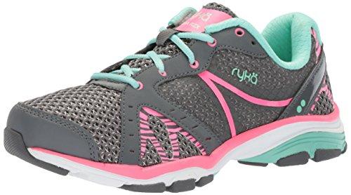 Ryka womens Vida Rzx Cross Trainer, Iron Grey/Hyper Pink/Yucca Mint, 8.5 US