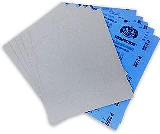 9 X 11 Inch 2500 Grit Premium Waterproof Starcke Matador Sandpaper Sheets, 50 Pack