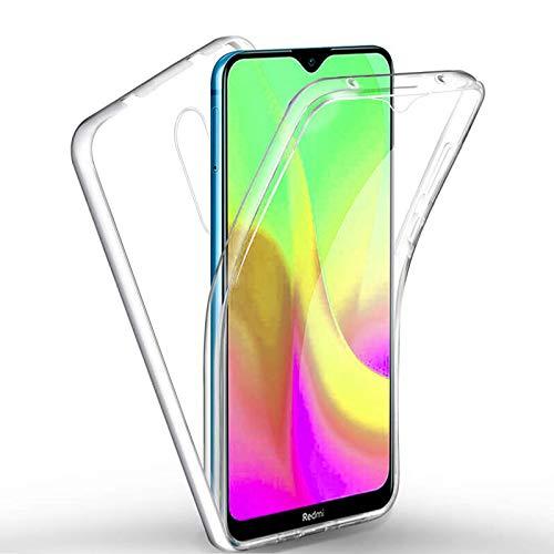 TBOC Funda para Xiaomi Redmi 8 [6.22'] - Carcasa [Transparente] Completa [Silicona TPU] Doble Cara [360 Grados] Protección Integral Total Delantera Trasera Lateral Móvil
