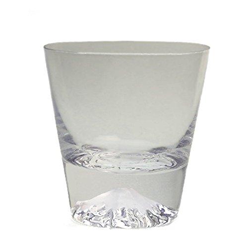 Fujiyama Mt.Fuji Mountain Rocks Glass Hand Blown Old Fashioned Drinking Glass - Standard [Japanese Crafts Sakura]