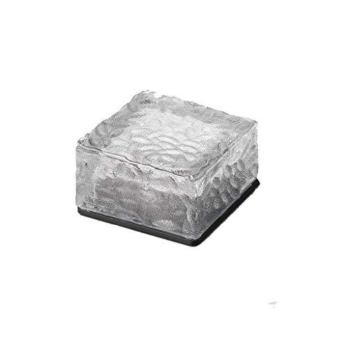 YNEQHOSJB 2-delige set - wit solar-LED ijs rock-kubus-glazen bakjes -binnenplaats straatlicht 4 LED groen
