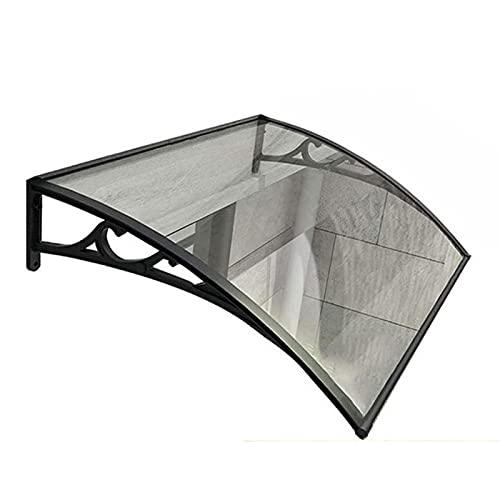 Auvent de Porte Entrée Marquise QIANDA 2,7mm Polycarbonate Feuilles, Store Fenêtre Pluie Abri Couverture - Aluminium Support (Size : 240cmx60cm)