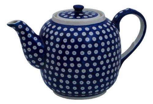 Original Bunzlauer Keramik Teekanne 1,50 Liter im Dekor 42