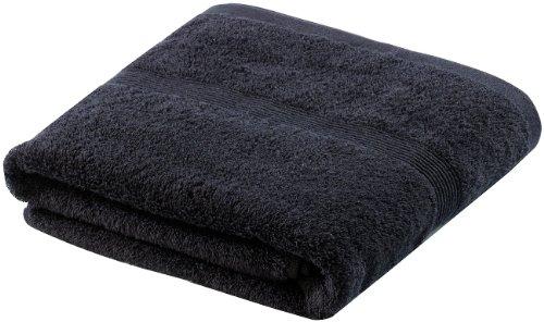 Wilson Gabor Frottee-Badetuch: Duschtuch aus Baumwoll-Frottee 140 x 70 cm, schwarz (Badetücher aus Baumwoll-Frottee)