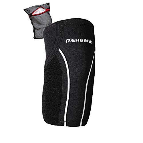 Rehband UD Tennis Elbow Sleeve Ellenbogen-Bandage inkl. Ziatec Wäschenetz, Größe:XXL, Farbe:Schwarz - 1 Stück