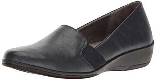LifeStride Women's Isabelle Loafer Flat, lux Navy, 11 W US
