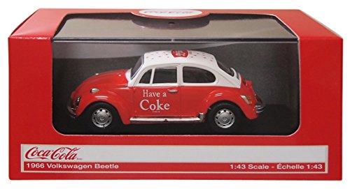 Motor City - 440030 - Véhicule Miniature - Modèle À L'échelle - Volkswagen Beetle - Coca Cola - 1962 - Echelle 1/43