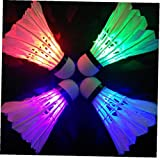 Ruluti Noche Oscura Iluminación Bádminton Volante De Colores De Iluminación Led Sport Bádminton Bola Accesorios De Traslado del Punto De Luz (Color Azar)