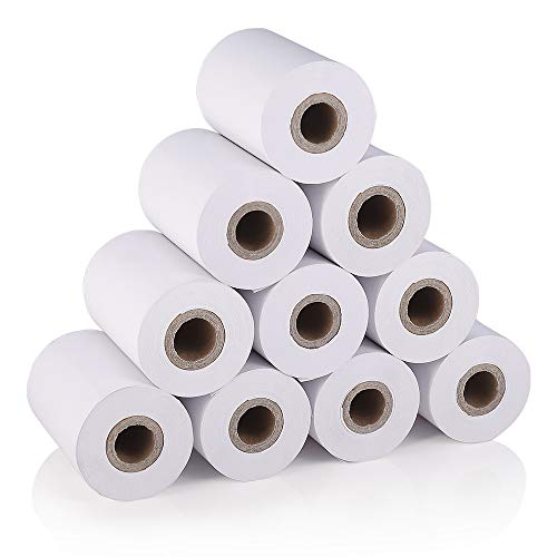 MUNBYM Thermal Paper,2-1/4 x 16.4ft Receipt Paper, Thermal Paper Roll for Mobile 58mm 30mm Mini POS Thermal Printer Cash Register - 10 Rolls Case