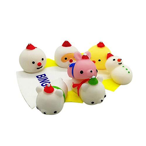 LianMengMVP Squishy Toy 24pcs Jumbo Food Muñeco de Nieve Panda Squishy de Crecimiento Lento, Juguete Encantador para niños Juguete para aliviar el estrés, Llavero Juguete Estrés