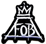 FOB FALL OUT BOY HEAVY METAL ROCK BAND IRON ON/SEW ON EMBROIDERED PATCH 7.6 cm x 7.6 cm (H x W)