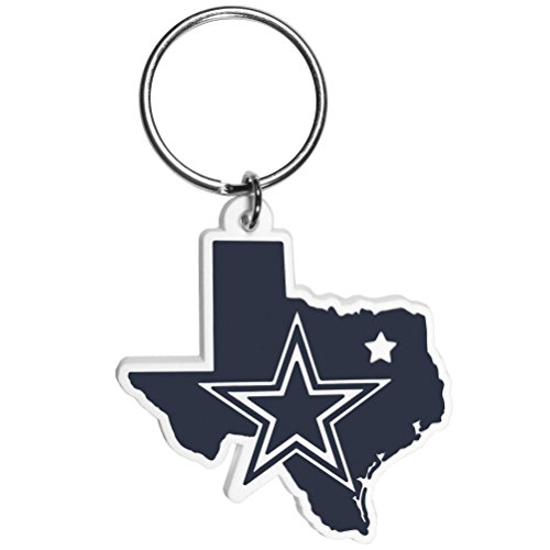 Siskiyou NFL Dallas Cowboys Home State Flexi Key Chain , Blue