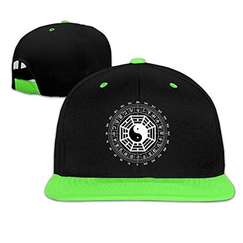 Gorras de béisbol I Ching Energies in Tai Chi Yin Yang Sombrero de béisbol Ajustable para niño y niña Hip Hop Sun Hat