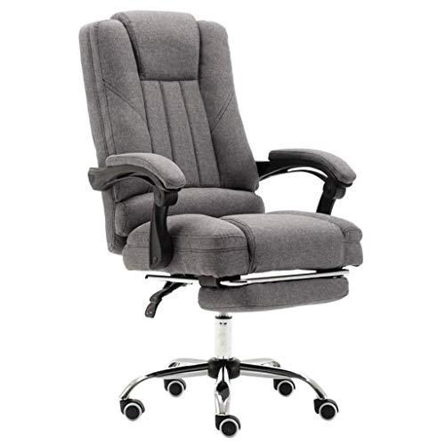 MGE Ergonomische bureaustoel - Hoge bureaustoel met hoofdsteun en gekoppelde leuning - In hoogte verstelbare stoel met voetsteun