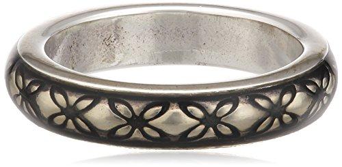 Pandora Damen-Ring 925 Sterling Silber Emaille grau Gr. 52 (16.6) 190868EN30-52
