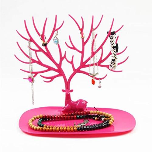 COMPY Soporte para Bandeja de joyería Colgador Forma de árbol de asta Soporte de Almacenamiento de joyería Creativo Collar Anillo Pulsera Soporte de exhibición Organizador