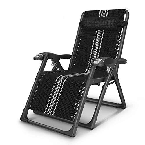 AYHa Silla taburete plegable de descanso de la gravedad cero silla de jardín al aire libre con alisador cómodo reposacabezas máximo de carga 150Kg