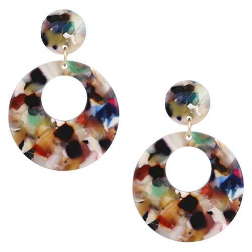 Bommeln oorstekers een paar bohemen amber hanger oorbellen dubbele creolen lange ronde oorbellen voor je vriendin echtgenote party jurk vrouwelijke vrienden