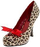 Pin Up Couture CUTIEPIE-06 Tan PU (Cheetah Print) UK 3 (EU 36)
