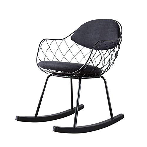 L.BAN Lounge-Sessel Schaukelstuhl Möbel Schreibtischstuhl Moderner Stil Metallrahmen