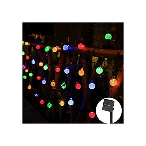 Outdoor String Lights Outdoor Light,Solar LED Waterproof Garden Decoration Lights,Balcony Terrace Garden Tavern Pergola,Steady/Flashing(Size:6.5m,Color:Multicolor)