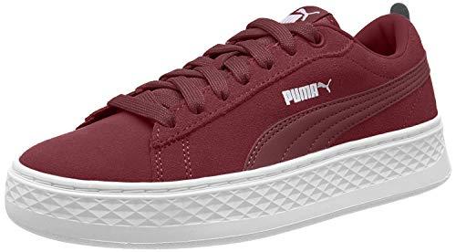 Puma Damen Smash Platform SD Sneaker, Rot (Cordovan-Puma White 07), 36 EU