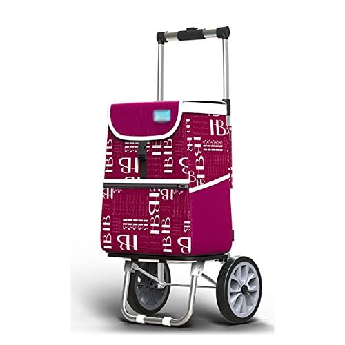 SH-gwtc Carro de Compras Plegable con Rueda de Escalada,Carro de la Escalera de la Compra Plegable con Ruedas giratorias rodantes y Bolsa Impermeable extraíble (Color : E)