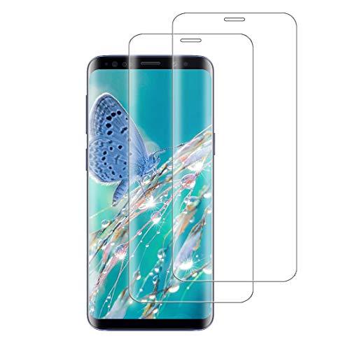XSWO Cristal Templado Samsung S8 Plus [2 Unidades], Protector Pantalla Samsung Galaxy S8 Plus, [3D Cobertura Completa] [Alta-Sensibilidad] [9H Dureza] [Sin Burbujas] [Fácil Instalar] Vidrio Templado