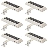 Touch of ECO Solar LED Gutter/Fence Accent Light with Adjustable Mounting Bracket - 6 Pack