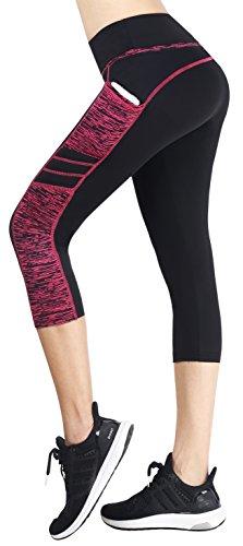 Munvot Mujer Leggins y Mallas de Cintura Alta para Yoga Pilates Fitness y Running M