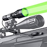 ANEKIM Green Tactical Flashlight 1586 Yards Hunting Light, KP CSLNM1.F1 Green LED Professional Weapon Light, Rechargeable Battery, Picatinny Mount, Pressure Switch for Long Distance Night Hunting UC20
