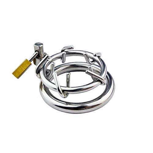 CXQ Yoga Suit Men's Stainless Steel Enamel Device Chǎstity Device P*enis Lock Alternative Toy 40mm/45mm/50mm Rings Three Sizes Optional T-Shirt,Hats (Size : 45mm ring)
