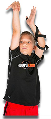 HoopsKing Off or Guide Hand Shooting Aid Perfect Jump Shot Strap - Develop A True One Handed Release On Your Shot - Stops Rotation of The Wrist to Prevent Off Hand Interference Alaska
