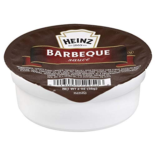 Heinz BBQ Sauce Single Serve Packet (2 oz Packets, Pack of 60)
