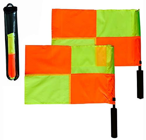 Coast Athletic Soccer Referee Flags (Checkered Pattern)   Ultra High Visibility
