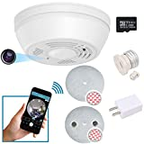 Dummy Smoke Detector 32Gb Included WiFi Motion Detection Hidden Surveillance Camera Night Vision w. 180 Days Standby Battery & Magnetic Pads Recessed Light Trim Installation Tool (NuCam SD)