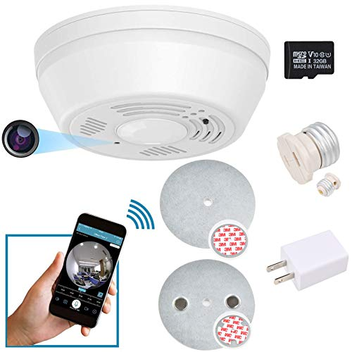 NUNET Smoke Detector Hidden Surveillance Camera