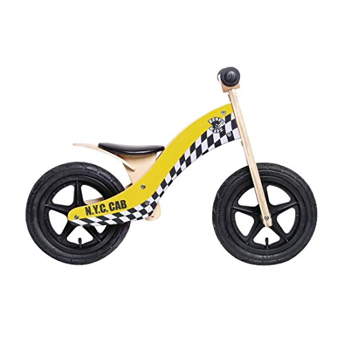 Bici aprendizaje Rebel Kidz Wood Air madera, 12, Taxi amarillo