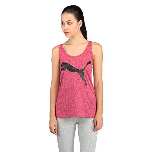 PUMA Damen Essential Dri-Release Tank Top, Knockout Pink Heather, L