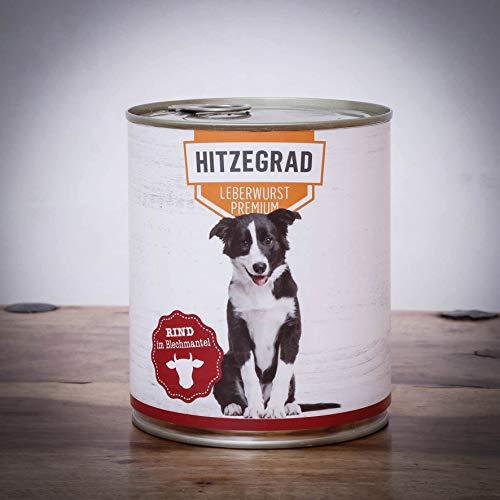 Hitzegrad® Leberwurst, 400g 1 Dose - Nassfutter für Hunde mit hohem Fleischanteil und in Premiumqualität