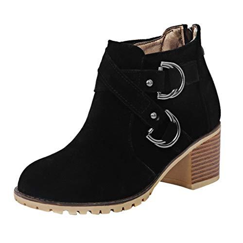 Posional Botines Mujer Planos Sandalias Tacon 3.8Cm Zapatos...