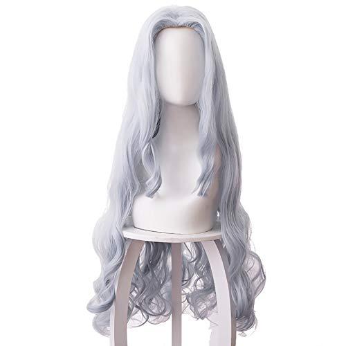 BROCCOLI Parrucca Cosplay Anime Eri My Hero Academia Costume Cosplay Lunghi Ricci Ondulati Capelli Grigi Blu Parrucche da Donna per Ragazze