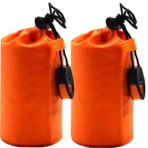 Froiny 2 Pack Bolsa De Dormir De Emergencia Ligero Survival Bolsos para Dormir Thermal Bivy Sack Manta De Emergencia Portátil para Acampar, Senderismo, Aire Libre