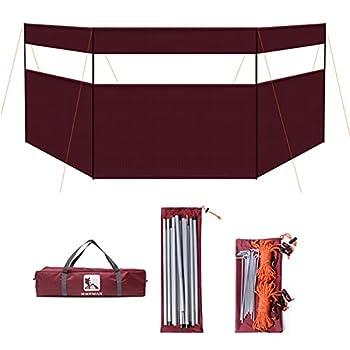 Enkomy Brise-Vent de Camping, Pare-Brise de Camping de feu de Camp d'écran de confidentialité de Pare-Brise extérieur de Plage