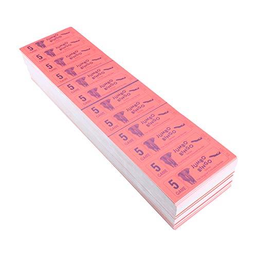 Jumbo/grande Bingo Ticket Libretti, 12 per Visualizzare, 5 Gioco